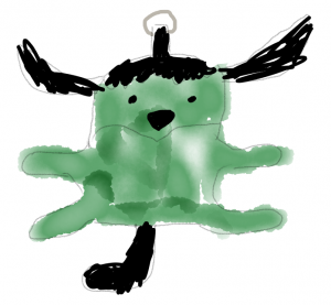 Artist rendering of Frankenstein Wapuu