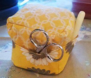 Yellow Cube-style Pincushion